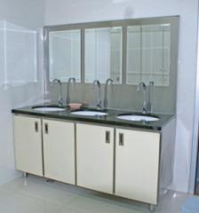 三位自动洗手槽